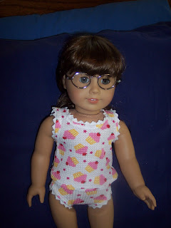 American Girl Molly with homemade underwear