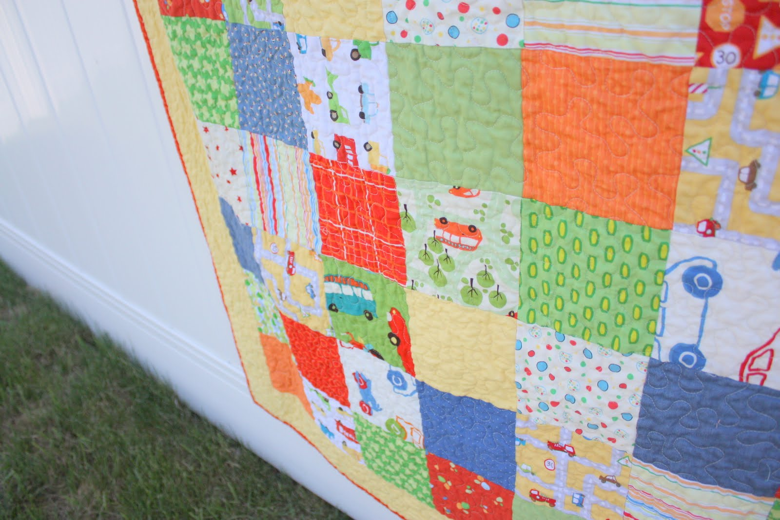 On the road again a special boy 39 s quilt diary of a for Boy quilt fabric