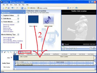 edit audio in video with windows movie maker