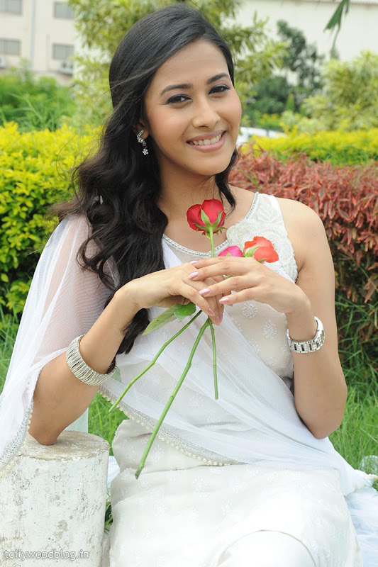Panchi Bora Cute Looking Pics in White Dress glamour images