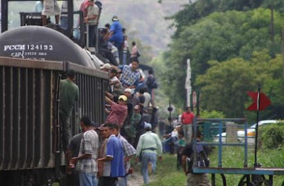 Güterzug mit Migranten in Mexiko