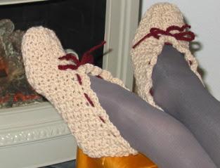 Knitting Grandma Slippers : Grammys workbasket: my grandmas crocheted slippers pattern