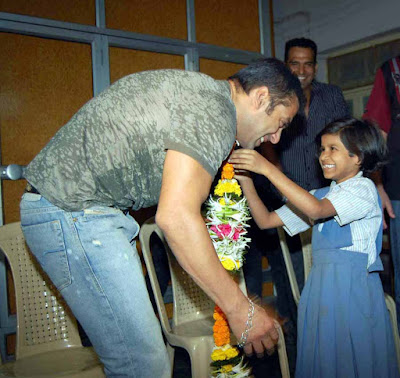 Salman Khan at St Catherine's Home