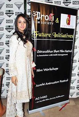 Raima Sen at Aarohi Film Festival Launch Event