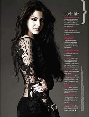 Anushka Sharma on Femina Magazine