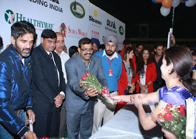 Suniel Shetty at a Charity Event in Chandigarh
