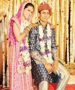 Ashish Nehra's with Wife Rushma