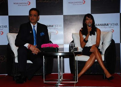 Bipasha Basu at Sahara Star's New Year Bash Press Meet