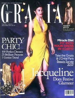 Jacqueline Fernandez on the Cover of Grazia Magazine