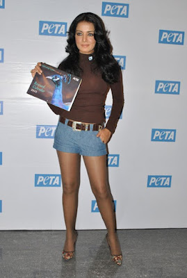 Celina Jaitley at Peta Calendar Photoshoot