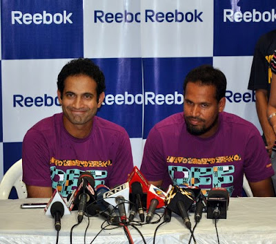 Irfan Pathan at Reebok Junior Store