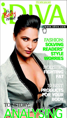 Lara dutta on the cover of Idiva Magazine