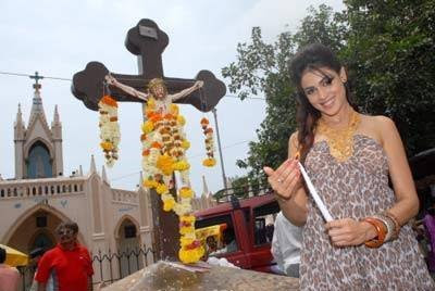 Genelia D'souza at Mount Mary Church