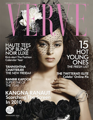Kangna Ranaut on the cover of Verve Magazine