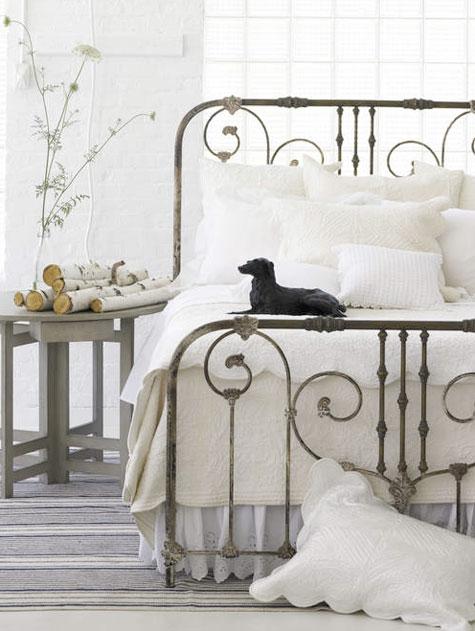 Wrought Iron Bed White Bedoom