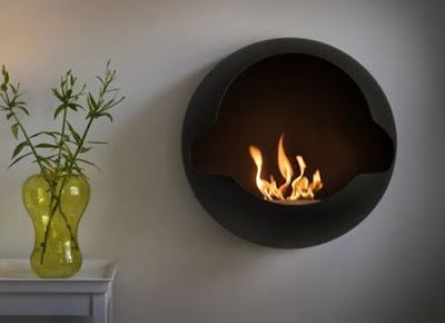 Contemporary Cupola Fireplace