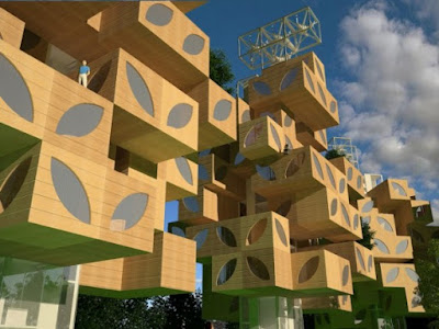 Social Housing of T-Tree by Adil Azhiyev and Ivan Kudryavtsev