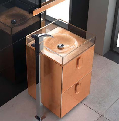 Modern Self Standing Sink Design by Qin