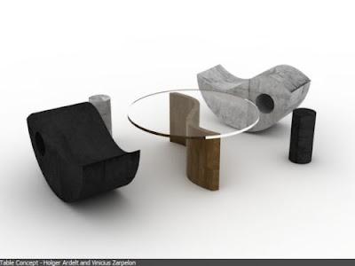 simplicity Yin Yang Table Set by Vinicius Zarpelon