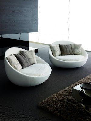 Living Room Decorating with Modern Design Lacon Sofa Collection from Desiree Divano