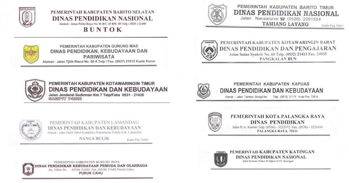 Potret Pendidikan Kalimantan Tengah Kop Surat Dinas