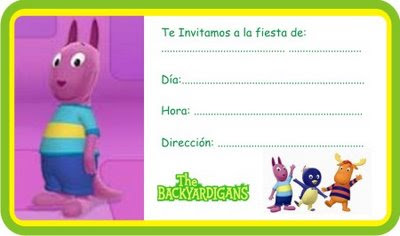 TARJETAS DE BACKYARDIGANS