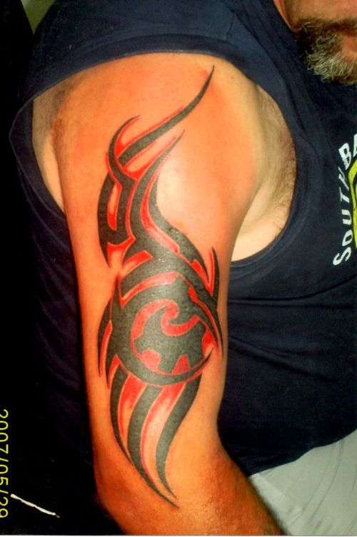 Tribal sleeve tattoos-117