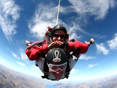 John Metz skydives with Shane