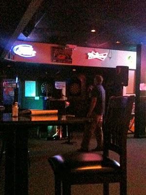 Dave Holub sings karaoke.
