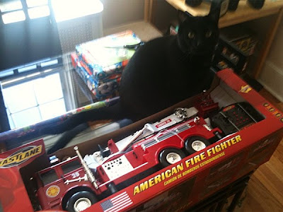 Vinnie and a firetruck