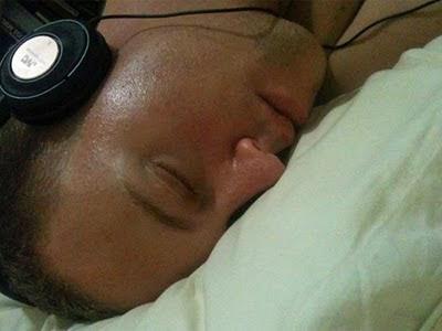 John sleeps.