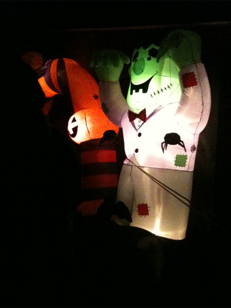Inflatables at the haunted hayride