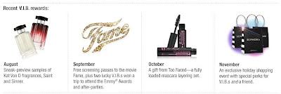 Sephora VIB monthly perks
