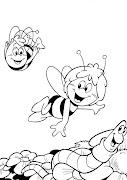 Dibujos para colorear: Dibujos para colorearLa abeja Maya