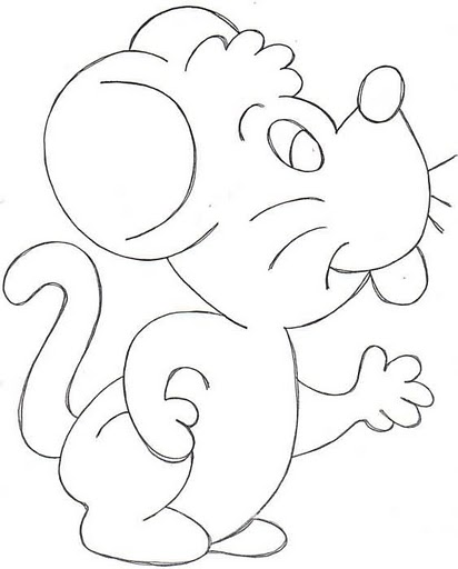 Dibujos para colorear: Dibujos para colorear - Ratón
