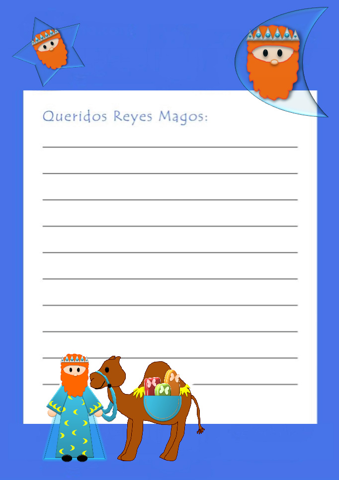 Papel de carta infantil Carta de los reyes magos para imprimir