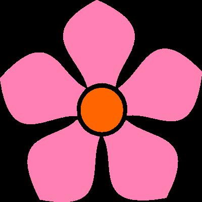 Recursos Infantiles Flores Rosas Varios Tamanos