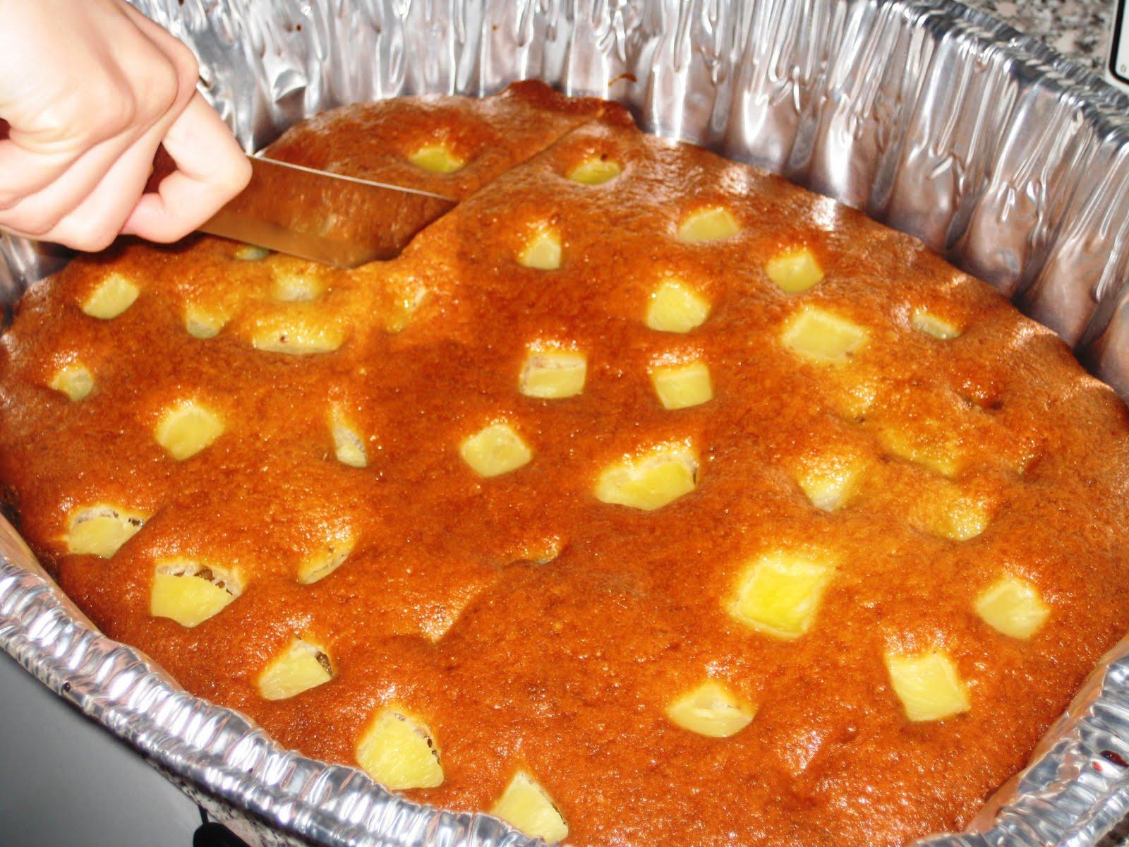 Пирог с ананасами в духовке рецепт