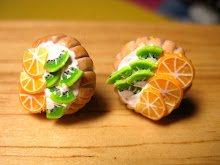 simple fruit tart earrings.