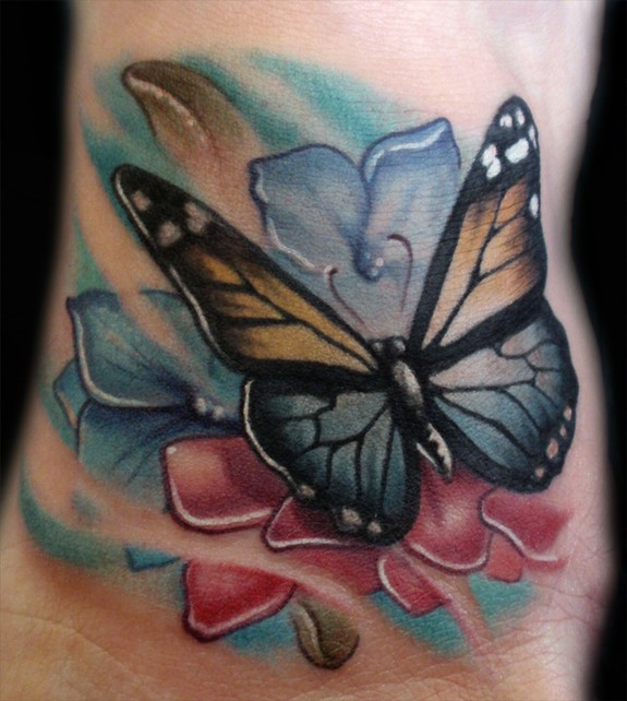 Tattoos flowers and butterflies 4 for Flower and butterfly tattoo
