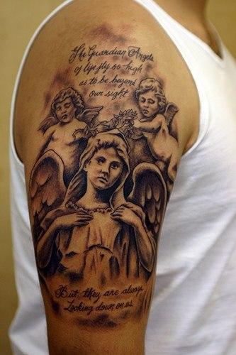 bodypainting tattoos design angels 2. Black Bedroom Furniture Sets. Home Design Ideas