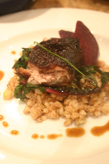 Crispy pork belly, farro risotto, Jubilee farms roasted beets and ...