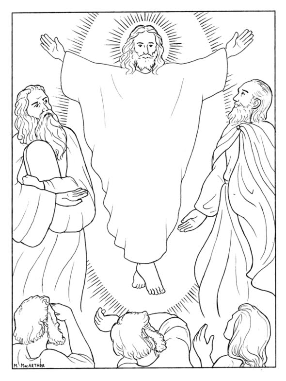 luminous mysteries coloring pages - photo#9
