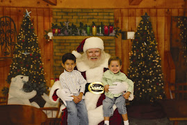 Jack & Ben with Santa - 12/08