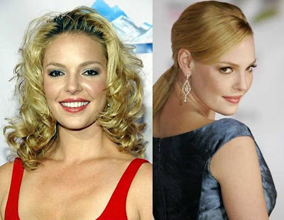 best celebrity hairstyles Katherine Heigl curly and straight long hairstyles