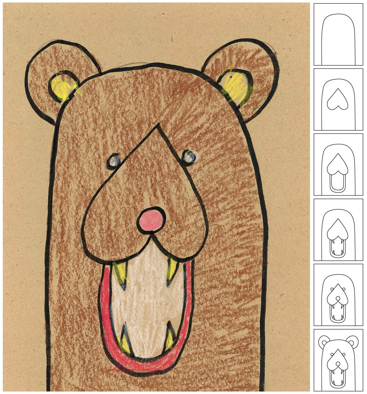 Uncategorized How To Draw A Bear For Kids art instructions for kids how to draw a bear ziggity zoom i used this drawing project few years ago with not only kinders but older students as well they were asked add lots of fur to