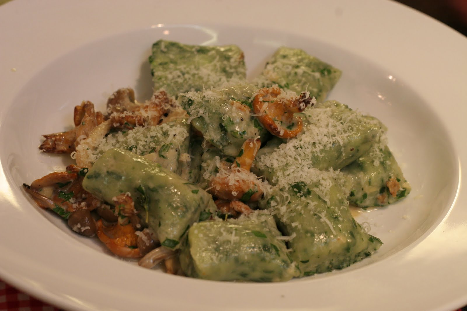 Tuna Toast: Spinach Gnudi