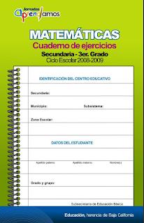 Cuaderno de ejercicio de matemáticas