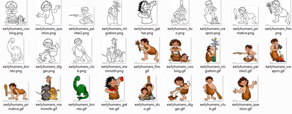 Dibujos de cavernícolas para colorear   Diario Educación