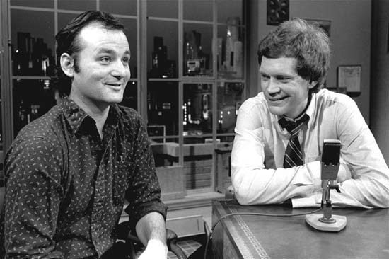 Bill Murray with David Letterman